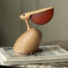 북유럽 덴마크어 단단한 나무 장식 목조 홈 TV 캐비닛 입구 장식 설정 Bigbillbird 공예품