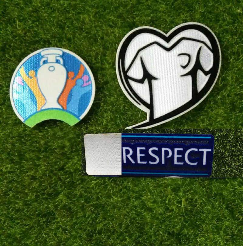 2020 Eur Qualifier Patch En Respect Badge Voetbal Patch Warmteoverdracht Badge