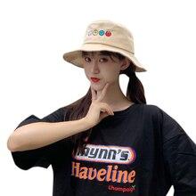 Women Hat Concise Casual Cartoon Pattern Cute Travel Folding Sunscreen Bucket Hat Casquette stylish multicolor stripe pattern bucket hat for women
