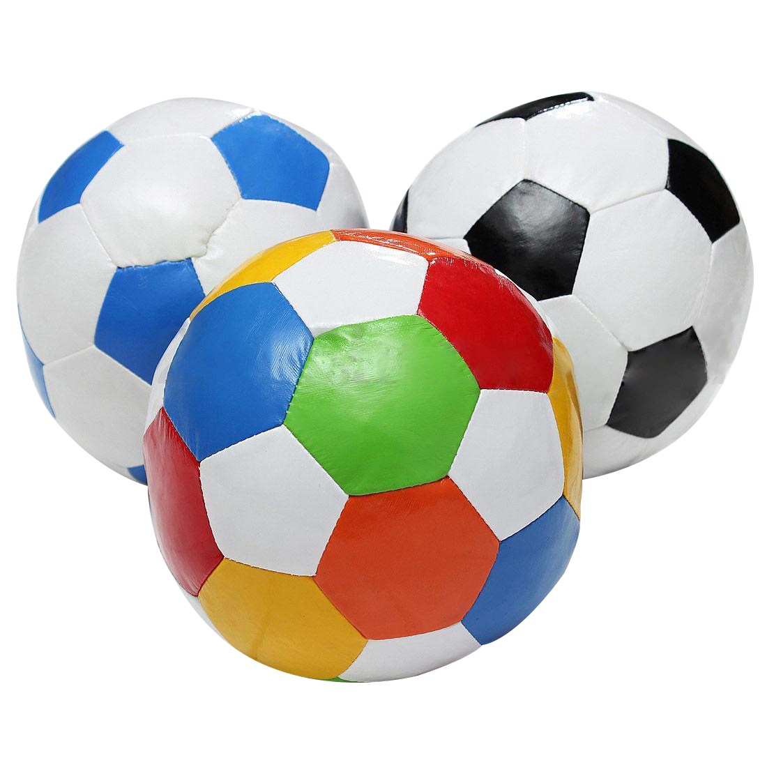 HOT SALE 1PCS 14.4cm Soft Indoor PVC Surface Football Soccer Play Ball Toy for boys random color image