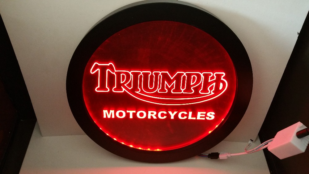 triumph motorcycle signs promotion-shop for promotional triumph