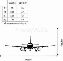 Airplane Wall Stickers Muraux Wall Decor Airplane Wall Art Decal Decoration Vinyl Stickers Removable Airplane Wallpaper S21