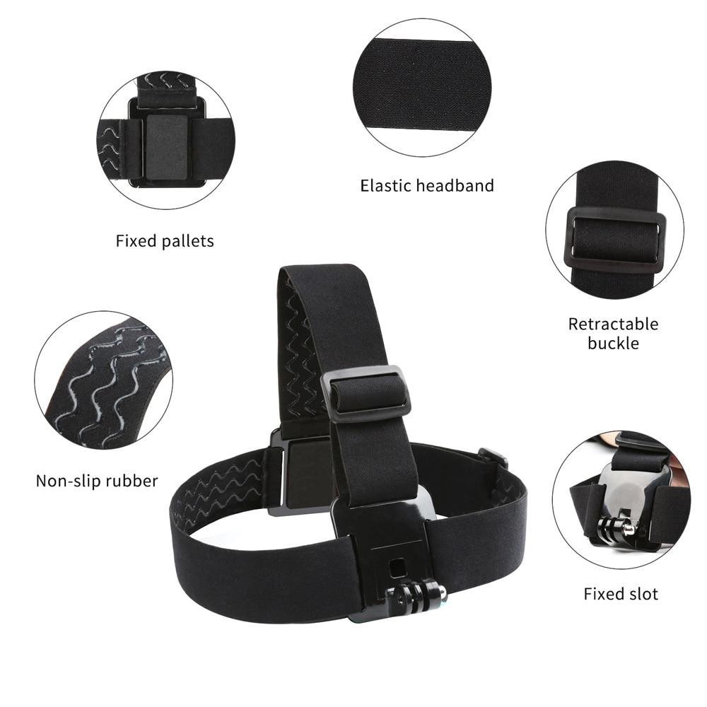 SHOOT Adjustable Harness Chest Strap Head Strap Belt for GoPro Hero 9 8 7 5 Black Xiaomi Yi 4K Sjcam Sj4000 Go Pro 7 8 Accessory 4