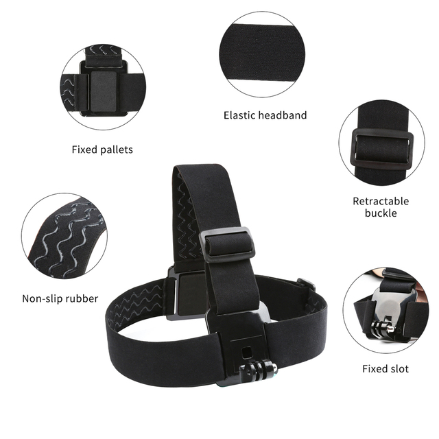 SHOOT Adjustable Harness Chest Strap Head Strap Belt for GoPro Hero 8 7 6 5 Black Xiaomi Yi 4K Sjcam Sj4000 Go Pro 7 8 Accessory 3