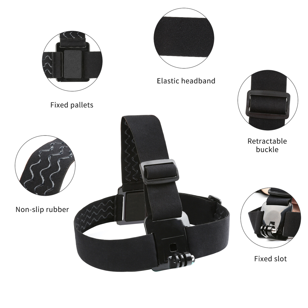 SHOOT Adjustable Harness Chest Strap Head Strap Belt for GoPro Hero 9 8 7 5 Black Xiaomi Yi 4K Sjcam Sj4000 Go Pro 7 8 Accessory-3