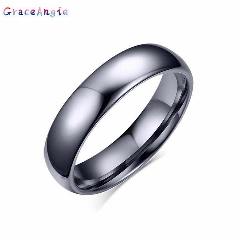 Nouvelle mode coréenne couple anneau pour femmes hommes tungstène acier bijoux de mariage taille américaine 5-14 couple fête bijoux amoureux cadeau anneaux
