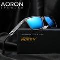 AORON 7 Color Fashion Leisure Polarized Glasses Wrap Sunglasses Men's metal Frame Design Unisex Eyewear oculos de sol A6560
