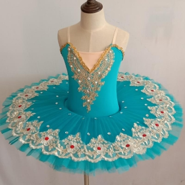 Children's Swan Lake Dance Costumes Ballerina Pancake Tutu Child Kids Girls Sequins Professional Ballet Tutu Skirt