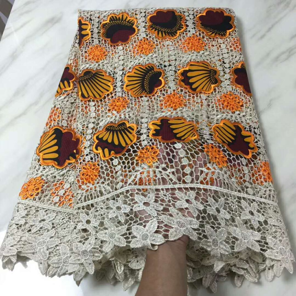 african wax brode prints water soluble lace net fabric for wedding 5yd top quality dress material