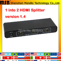 TOP Speed 1 to 4 HDMI splitter 1080p 4 ports output 1.4v 3D HDMI Swicth 1*4 Audio and Video HDMI Divider for ps3 TV DVD PC