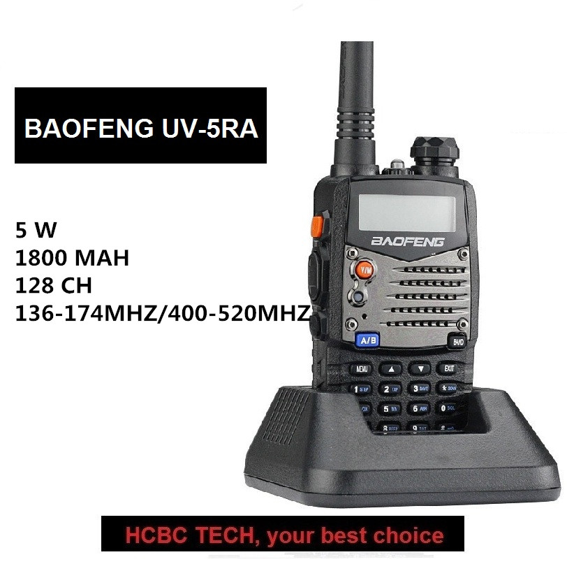 BAOFENG UV-5RA Portable UHF VHF 128CH Mise À Jour UV-5R Émetteur-Récepteur Moniteur Numérisation CB Station de Radio pour Motorola