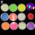 Sara Nail Salon 1Case Nail Art Fluorescent Luminescent Glitter Tip Powder Sand Glow In Dark 3D Salon Nails DIY Design NC325