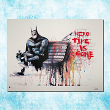 batman banksy graffiti street art silk canvas poster 13x18 24x32 inch motivational artwork print picture