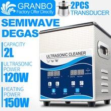 Granbo цифровой ультразвуковой очиститель ванны 2L 120 Вт с DEGAS SEMIWAVE нагревание для медицинской и стоматологической клинике Топливная форсунка