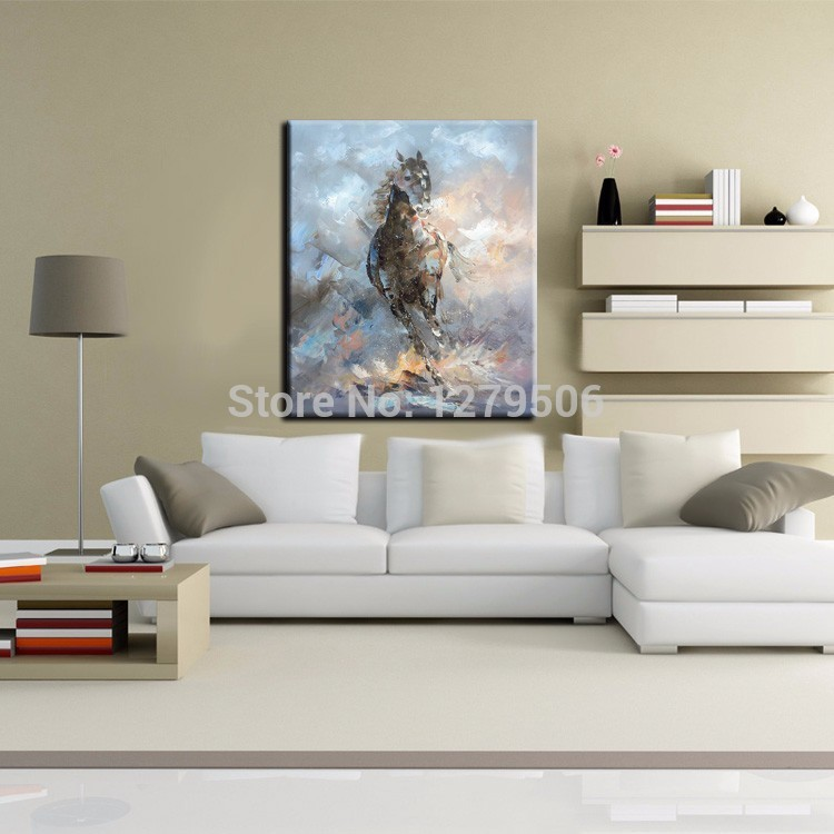 Knife Oil Painting Horse On Canvas Experienced Artist Handmade High Quality Abstract Knife Horse Painting For Wall Decoration.jpg