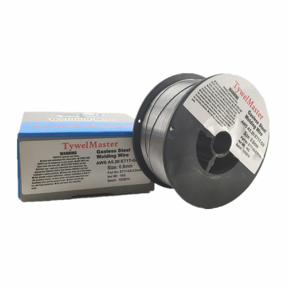 1pcs Gasless Welding Wire E71T-GS 0.8mm 0.9KG 2LB Spool AWS A5.20 ISO 17632 Mig Welding Сварка