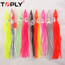 2016 New Soft Rubber Squid Skirts Bionic bait Fishing Tackle Sea Fishing Octopus bait Threads Soft Lures random Mixed color