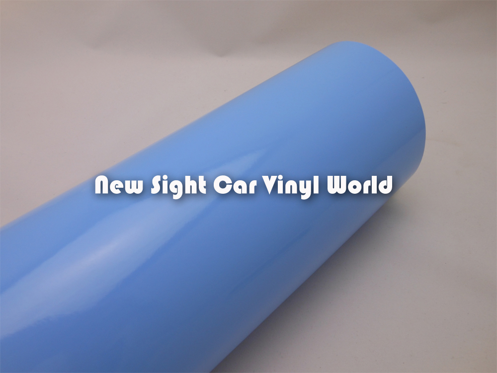 Glossy Blue Car Wraps Vinyl Air Free For Car Wraps Size:1.52*30m/Roll