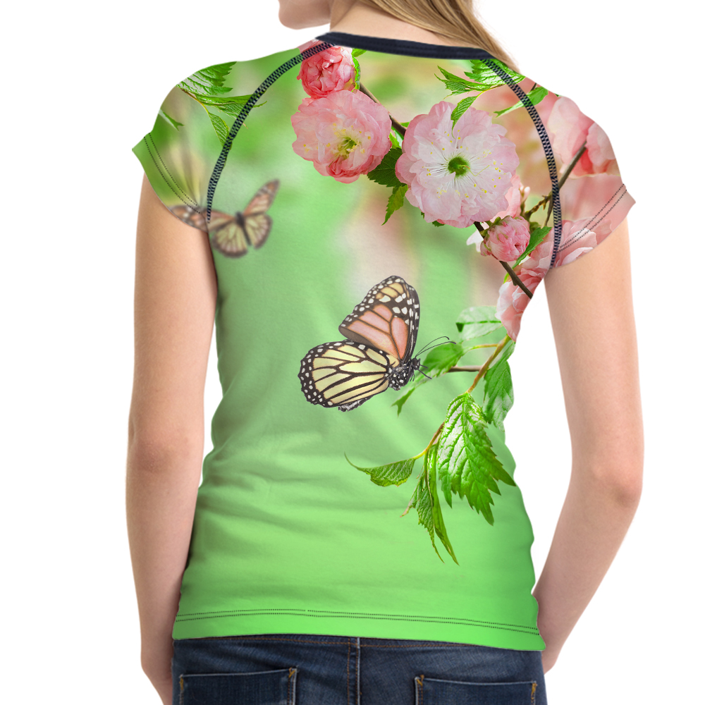 FORUDESIGNS Women 39 s T shirt O Neck Harajuku Tops Tees Butterfly Printed Partysu Youth Girls T Shirts Female Casual Tshirts Plain in T Shirts from Women 39 s Clothing