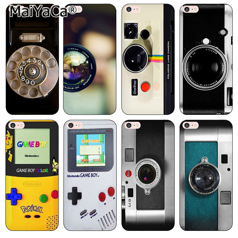 MaiYaCa silicone black softTPU phone case cover For iPhone 5 5s 6 6s 7 8 plus Case pokemo gameboy camera case for iphone x funda