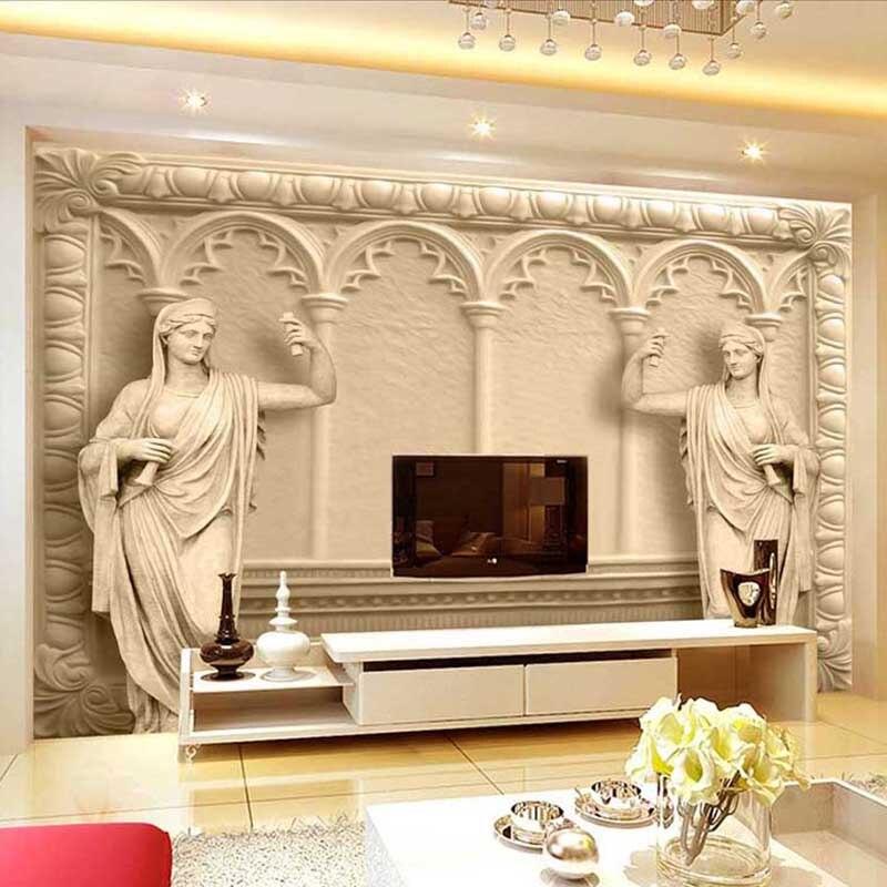 Может быть индивидуальные Влагостойкие 3D Греческой Богини Обои Гостиной ТЕЛЕВИЗОР Фоне Стены бумага искусства обои ресторан диван фон