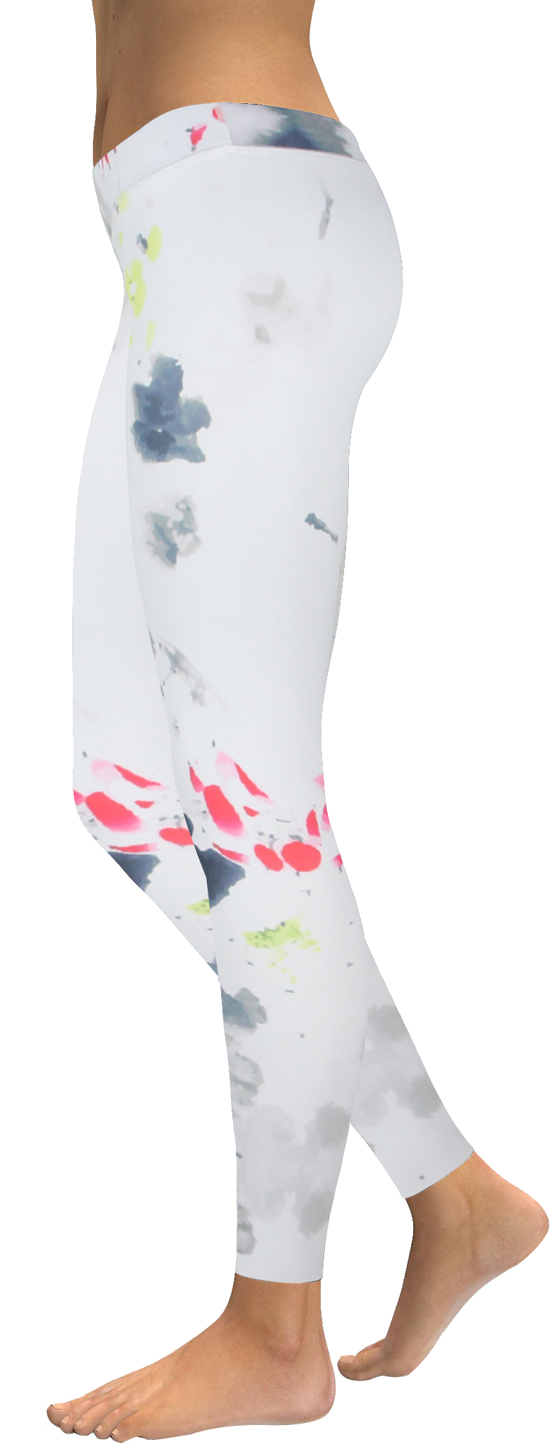High waistband white ink watercolor legging (2)