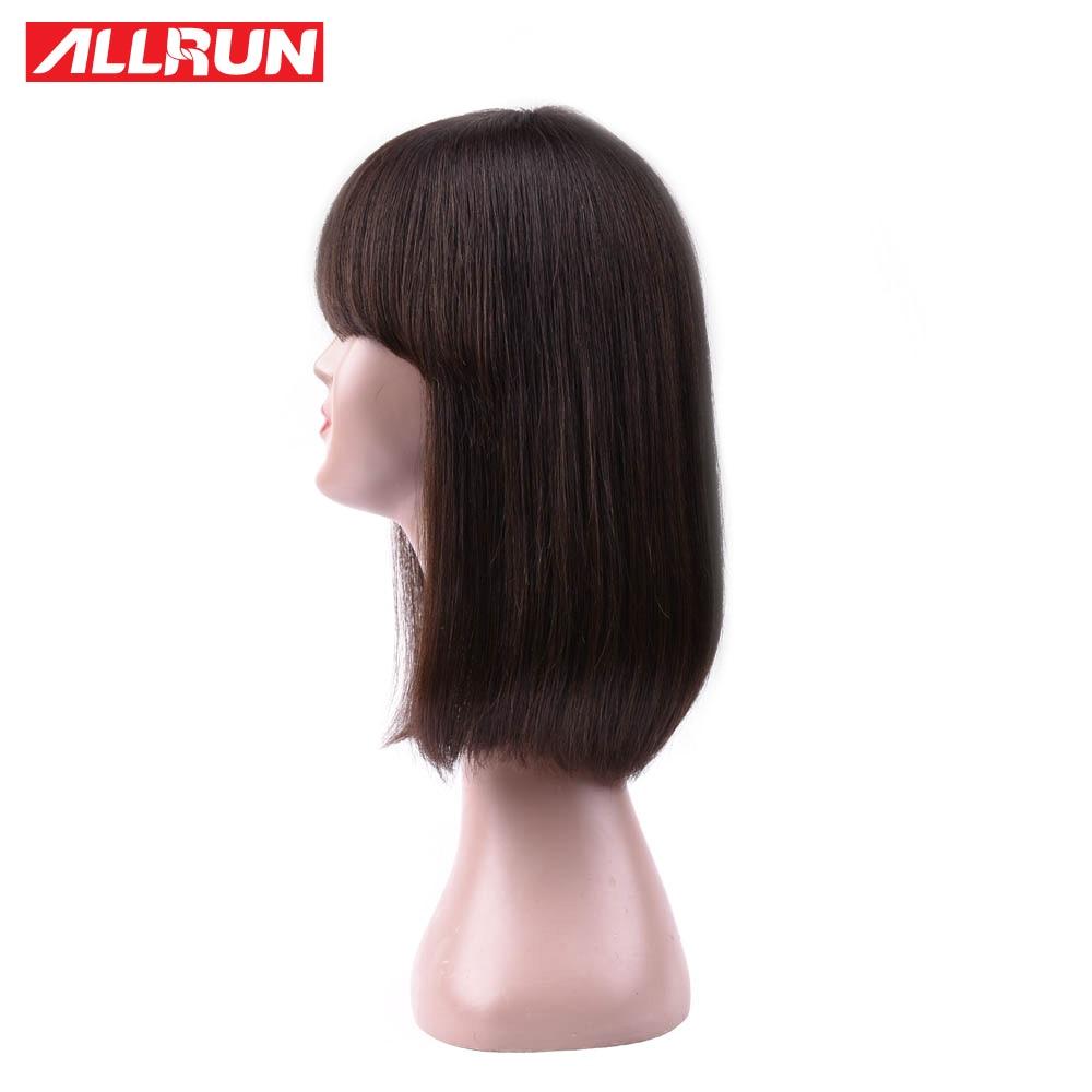 ALLRUN человеческих волос, парики прямые волосы боковая часть волос парики не Волосы remy перед парики Бесплатная доставка ...