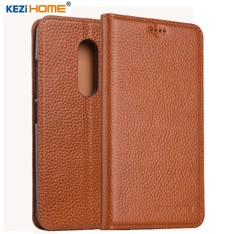 KEZiHOME for ZTE Axon 7 A2017 case Flip genuine leather soft silicon back for ZTE Axon 7 A2017 cover