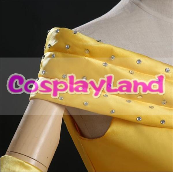 Skönhet och Beast Belle Dress Vuxenprinsessan Belle Cosplay Kostym - Maskeradkläder och utklädnad - Foto 5