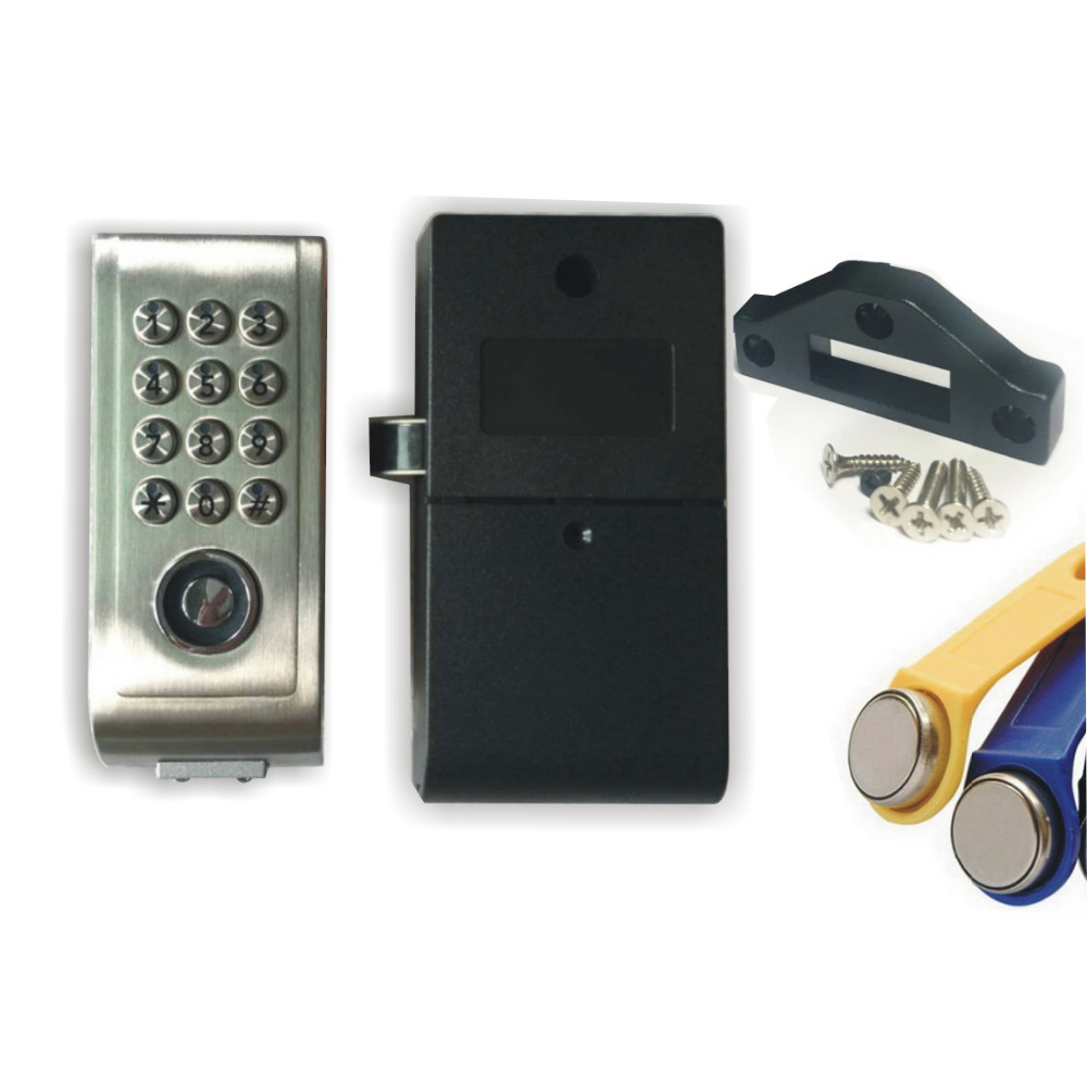 Dry battery Metal sheel Keypad Password TM Card Key Digital Electronic Cabinet locker lock+2pcs TM keyfobs