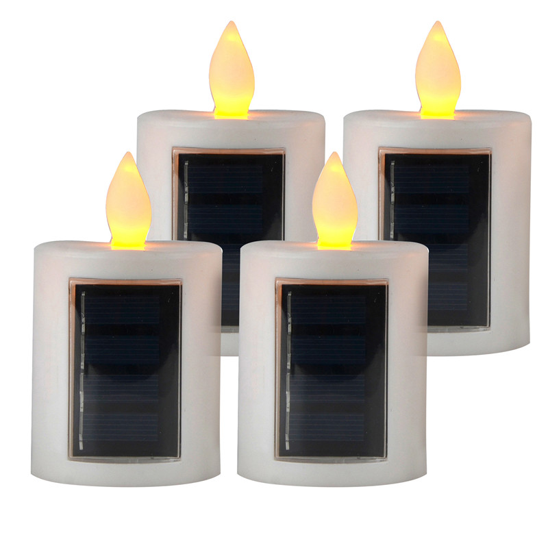 yellow light flameless candle light solar led candle light with sun charging for christmas home window