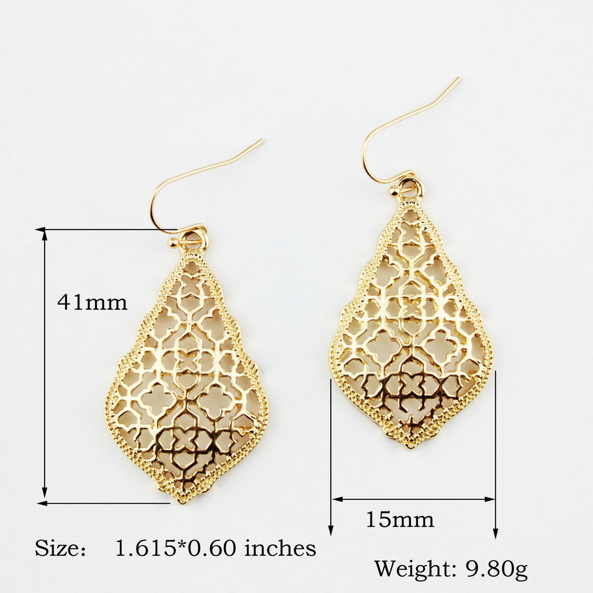 ZWPON zlatne naušnice u obliku marokanskih naušnica, karirane - Modni nakit - Foto 6