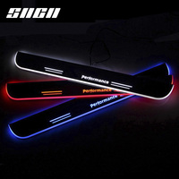 SNCN Trim Pedal LED Car Light Door Sill Scuff Plate Accessories For BMW E90 X6 F16 F30 F35 X5 E70 F15 F20 F21 E82 E60 F10 X3 F25