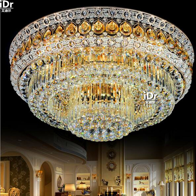 The New S Gold Golden Living Room Crystal Lamps LED Circular Dining Bedroom Lighting Ceiling Lights Rmy 0320 In From