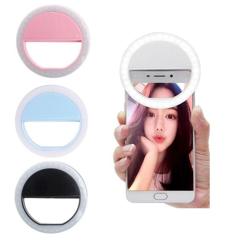 Téléphone Selfie anneau Flash Led lampe de remplissage caméra photographie projecteur vidéo pour iphone X 8 7 6 Samsung S8 Plus Xiaomi Huawei