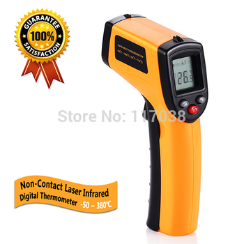 GM320 Laser LCD Digital IR Infrared Thermometer Temperature Meter Gun Point -50~380 Degree Non-Contact Thermometer Free Shipping