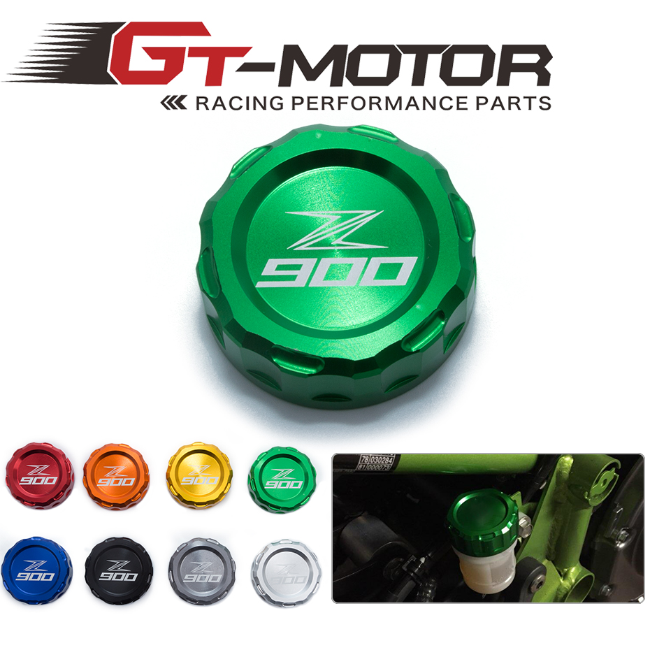 GT Motor- <font><b>Motorcycle</b></font> CNC Aluminum Rear Brake Fluid Reservoir Cover Cap For <font><b>Kawasaki</b></font> Z900 <font><b>Z</b></font> <font><b>900</b></font> with z900 logo image