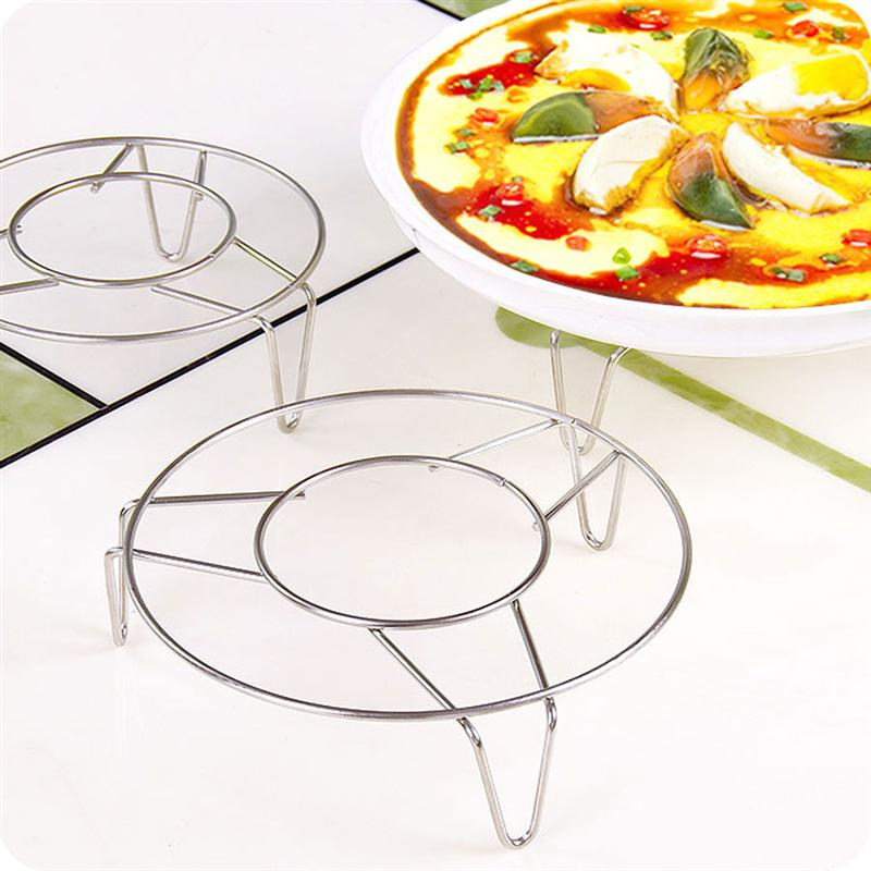 Stainless Steel Steamer Kitchen Cookware Steamer Rack Insert Stock Cooking Steaming Stand Kitchen Heating Supplies