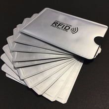 1000 pcs printed Anti Theft Credit Card Holder with passport holder Aluminum RFID Blocking Sleeve Protect your money and ID
