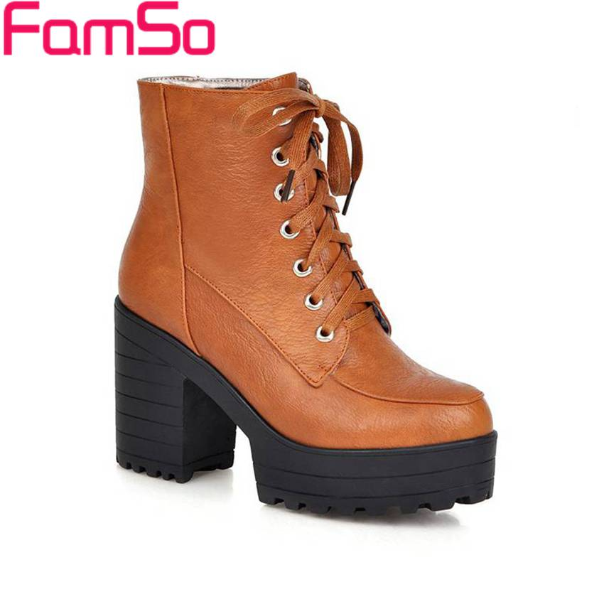 Plus Size34 43 2016 new Sexy Lady Dress Ankle Boots High Heels Platforms Pumps Winter font