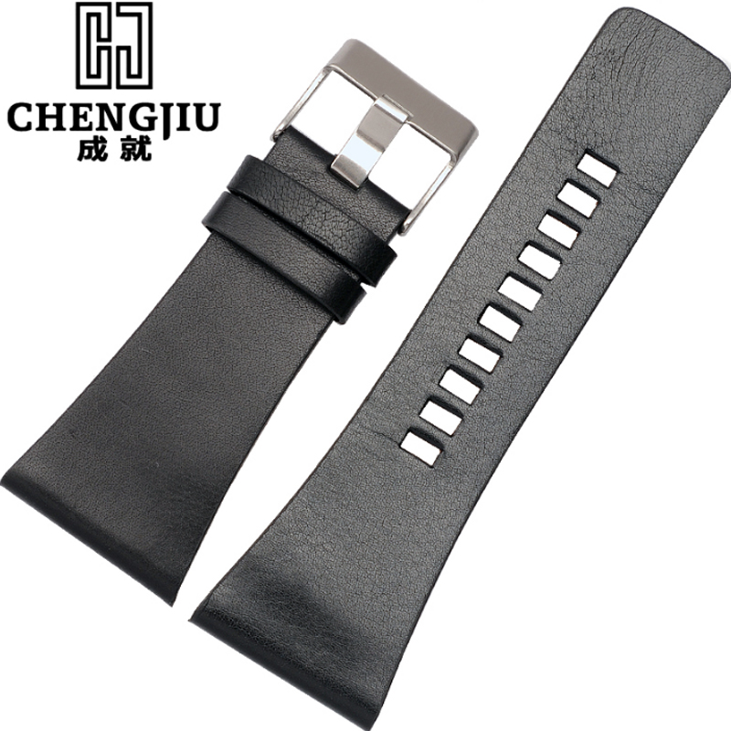 Mens Watch Strap For Diesel Genuine Leather Bracelet Watch Band Pin Buckle Leather Watchband Correas De
