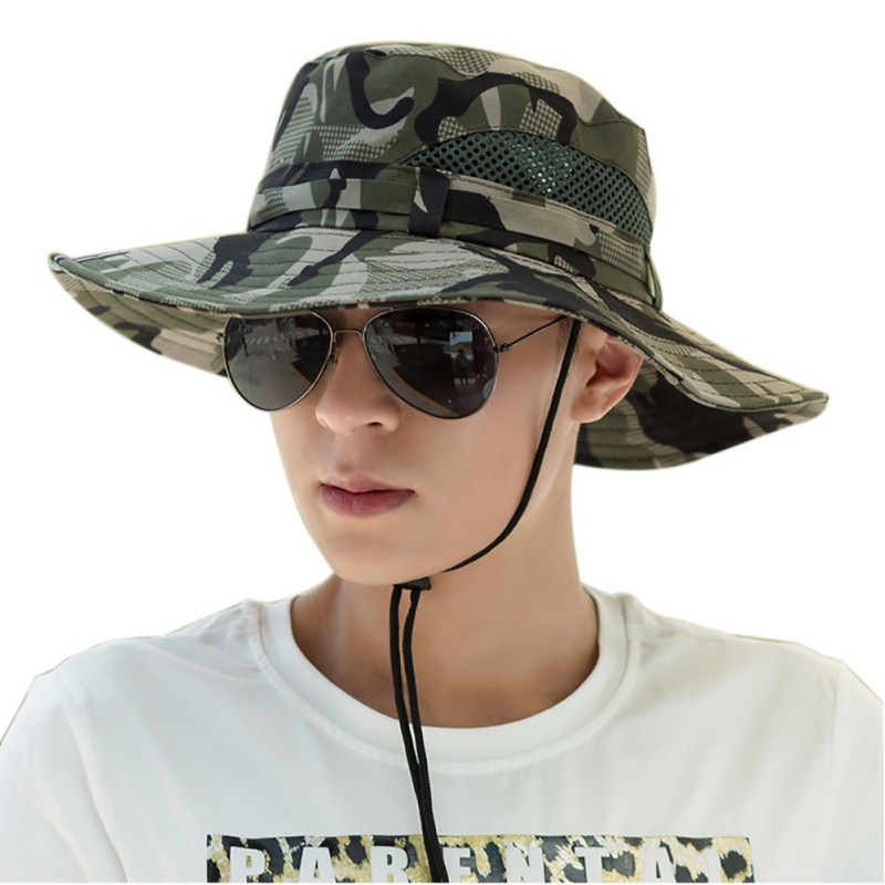 Outdoor 4 Color Hollow Out Breathable Hat Summer Fisherman Hat For Camping Fishing Costume Men's Clothing Fishing Equipment