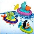 Brinquedos de banho brinquedos educativos Animais Barco brinquedos de banho do bebê com cordão enrolamento crianças crianças jogar água menino e brinquedos da menina