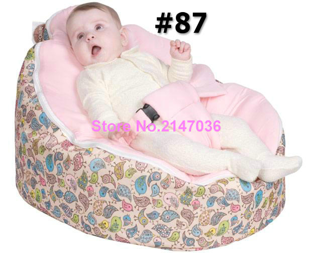 Pink birdie baby bean bag/ baby bed bag/ baby sleeping bag -