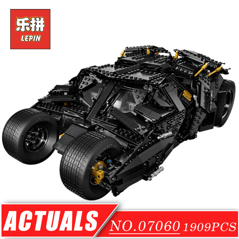 LEPIN 07060 Super Series Heroes Movie the Batman Armored Chariot set DIY Model Batmobile Building Blocks Bricks Children Toys decool 7118 batman chariot super heroes of justice building block 518pcs diy educational toys for children compatible legoe