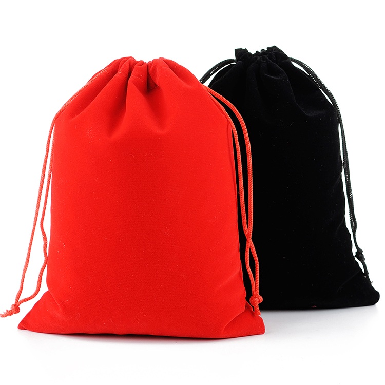 Wholesale 50pcs/Lot 17x23cm Large Drawstring Gift Packaging Jewelry Storage Velvet Bag