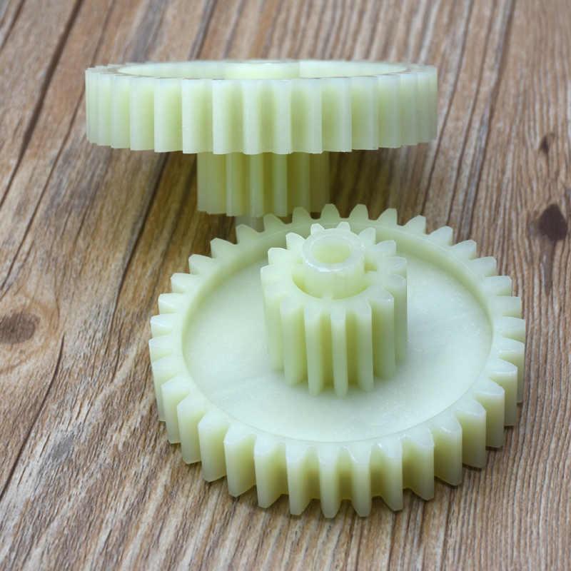 2 uds engranajes de repuesto piezas para molinillo de carne rueda de picadora de plástico para Vitek abotade Saturno Elbee Delfa magnít rolson ernición hauswilt