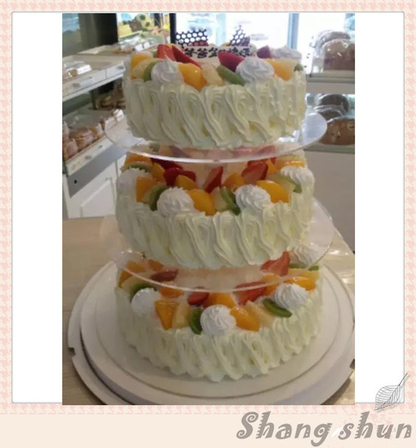 3 Tier Acrylic Wedding Cake Stand Crystal Cakes Display Cases