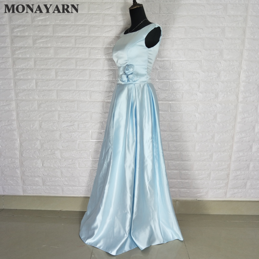 Cheap 2018 Latest Elegant Sleeveless Low Back Red Blue Cheap Long ...