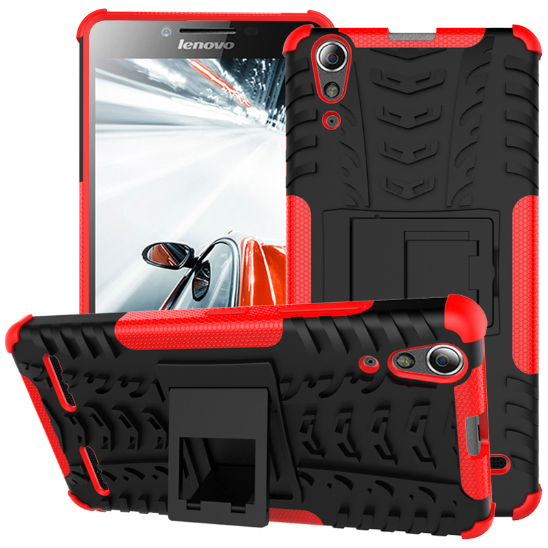 Dazzle Cover With Kickstand / Shockproof Function Hybrid Armor Hard Case For Lenovo A6000 Plus / A6000+ A6010 Plus A6010+ A6000